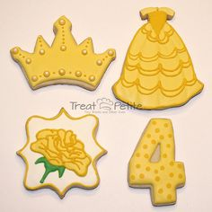 belle dress cookies - Google Search