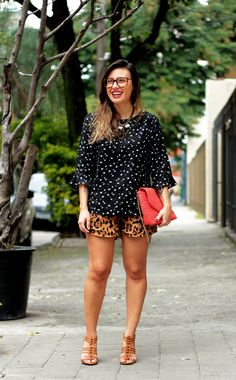 Small Fashion Diary: look do dia: mix de estampas!