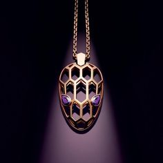 A striking rose gold and amethyst necklace from Bulgari's new Serpenti Seduttori diffusion collection (£2,930).