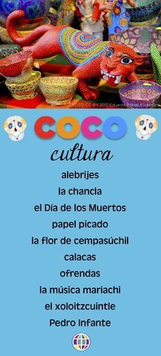 COCO is the perfect film to use in Spanish classes because it is PACKED with culture! Here are some of the cultural themes that you can dig into when using it with your Spanish students!