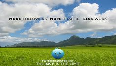 Twitter Cluster offers the largest twitter followers package with the ability to deliver 1 million twitter followers within a matter of 3 weeks only. Twitter Followers  are important in building the credibility of your business along with gaining mar twitter followers facebook fans facebook likes instagram followers google plus followers tumblr followers pinterest followers vimeo views soundcloud plays