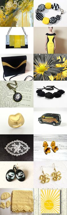 Black and Yellow  by Shelly Kramer on Etsy--Pinned with TreasuryPin.com