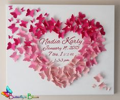 Exclusive 20 x 24 Personalized Butterfly von TheButterflyInBloom