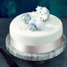 Blue And White Christmas Cake In Rajkot1470 Birthday Online