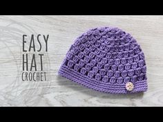 Easy To Crochet Beanie Hat Bobble Stitch, a post from the blog ilove-crochet on Bloglovin'