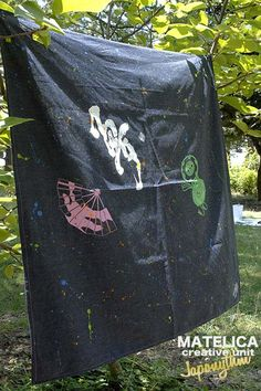 【Japonythm】 ko・to・da・ma NEO-FUROSHIKI デニム 90cm 夢   #和モダン #書 #言霊 #デザイン #Japonythm #MATELICA  #calligraphy #風呂敷 #アート #Japan #Tokyo #furoshiki #Japonism