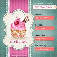 Birthday Party Invitation Cards Customized App Online Maker Happy Card
