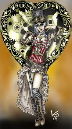 Steampunk Girl by 6anti6hero6