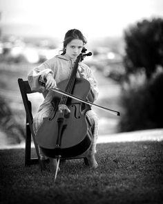 Cello portrait, musician portrait