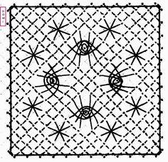 Nous arrivons au carré n° 26, il se compose d'une araignée à 6 pattes et d'un point fantaisie (utilisé déjà dans le carré 25, explications c...