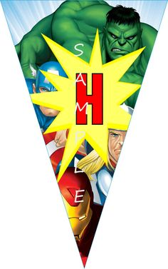 THE AVENGERS  Pennant Printable Birthday Party by GELATODESIGN, $10.00