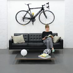 Smart and simple cycle storage- invisible fixing and subtle design integrated with interior - Cycloc Hero Cycle Storage, Cycling Holiday, Compact Living, Bicycle, Hero, Wall Mount, Organizing, Cleaning, Coffee
