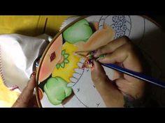 Pintura en tela niña tuna # 4 con cony - YouTube