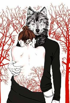 anna kapustenko chaperon rouge et loup little red riding hood Red Riding Hood Wolf, Red Ridding Hood, Picasso, Of Wolf And Man, Charles Perrault, Howl At The Moon, Wolf Love, Wolf Spirit, Big Bad Wolf