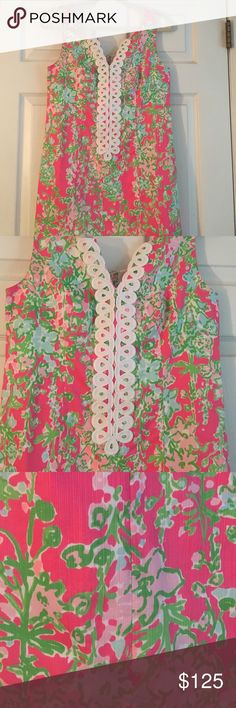Lilly Pulitzer Shift Dress (worn once) Worn once, amazing condition! Lilly Pulitzer Dresses