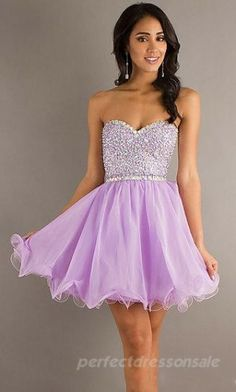 Sleeveless Sweetheart Prom Dresses Lavender