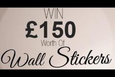 @WallChimp: Win £150 worth of walls stickers head over to http://t.co/0fZ89nYDdl to enter http://t.co/gxdSzHYF6s