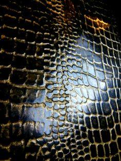 Crocodile skin texture  #plaster#gold wax