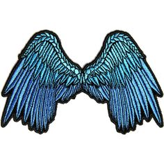 Small Beautiful Angel Wings Blue Patch