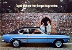Ford 1972 Ford Capri, Mercury Capri, Old Vintage Cars, Car Camper, Car Brochure, Ad Car, Cars Uk, British Sports Cars, Ford Classic Cars