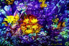 Painting by Lorenzo Robers....Colorful Garden