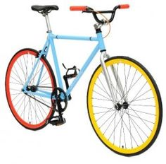 Critical Cycles Fixed Gear Single Speed Fixie Urban Road Bike -  Like the tri color combination - 10 other color combinations to choose from