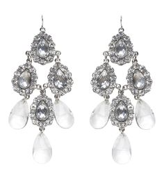 Stone Drop Chandelier Earring - Forever New