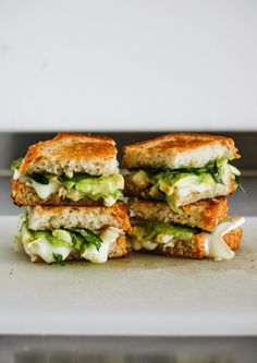 Avocado + Brie Grilled Cheese - Mmmmm, avocado. (And Brie.)