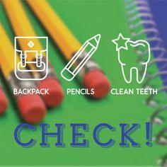 Back-to-school checklist. #dentistry