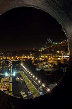 Lisbon - Lisboa - Lisbonne - Lissabon  Ponte 25 do Abril - Rio Maravilha Bar - LX Factory I Travel photo from a city trip to Lisbon I by A European Escape / ViaVado