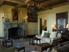 MGPB | We believe strongly in respecting the context of architecture and place. Family Room Fireplace, Fireplace Design, Cottage, Architecture, Places, Inspiration, Interiors, Home Decor, Image