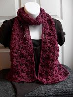 The Art of Zen.......Crochet: Free Lacey Crochet Scarf Pattern