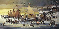 """Ice Riders of Chesapeake Bay"" by Charles Wysocki"