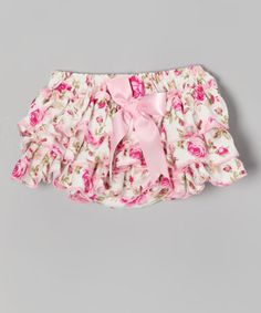 Look at this #zulilyfind! Pink Rose Ruffle Diaper Cover - Infant & Toddler #zulilyfinds