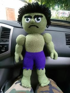Huge Hulk amigurumi lol he turned out really cute