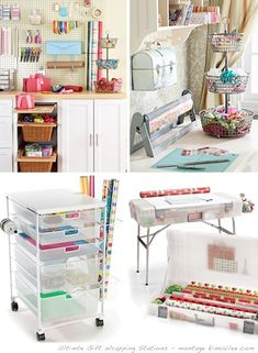 Ultimate Gift Wrapping Center! I seriously believe I was an Elf in another lifetime! I need this in my life!