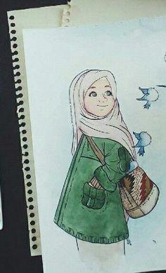 tesettürlü çizimler ile ilgili görsel sonucu Cartoon Kunst, Cartoon Art, Hijab Drawing, Islamic Cartoon, Anime Muslim, Hand Lettering Styles, Hijab Cartoon, Fantasy Drawings, Pictures To Draw