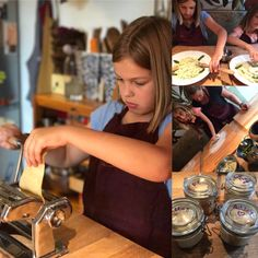 grace in the kitchen❤ www.pastaalpesto.com #italiancookinglessons #stefania #tuscany #italy #organic #countrycooking #cookingwithkids