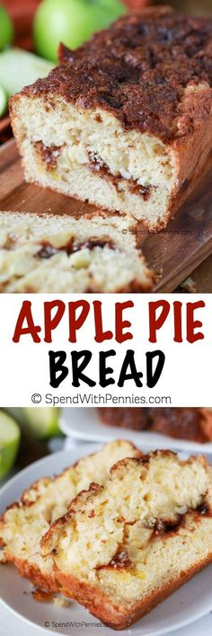 Warm Apple Bread with Cinnamon! If you like apple pie, you'll go crazy for this delicious bread… it's one of our favorites! Source: Warm Apple Pie Bread – Spend With Pennies