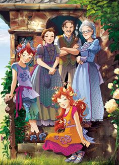 Periwinlkle family: Cicero,Dalia,Lalla Tomellila,Pervinca and Vaniglia