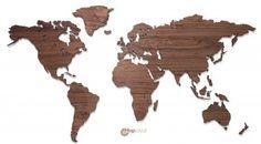 MapaWall wooden world map Walnut country borders 625 euro/rm3k+