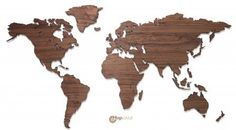 MapaWall wooden world map Walnut country borders 625 euro/rm3k+