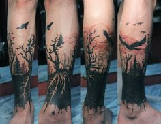 amasing_black_trees_and_swooping_birds_tattoo_on_leg.jpg (800×620)