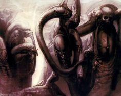 HR Giger Art Poster Print Biomechanoid Skull Biomechanical Baphomet Death Alien | eBay