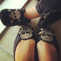 Matching skull shoes