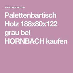 Palettenbartisch Holz 188x80x122 grau bei HORNBACH kaufen