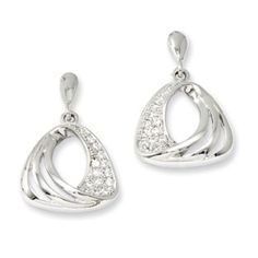 .925 Sterling Silver CZ Fancy Dangle Earrings Jewelry - Gemologica, A Fine Online Jewelry Store Posted to the Stufflicious.com community storefront by gemologica. Buy it directly from gemologica.com for $55 today. #Earrings #Accessories #Womens #Apparel #Fashion #Style #Bling #Bling