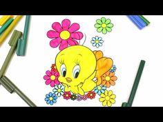 Coloring Baby Looney Toons Tweety, Coloring Tweety for Kids - YouTube
