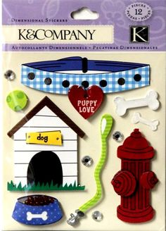 K & Company Everyday Puppy Dog Dimensional Stickers