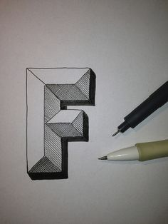 Art Ed Central loves Typography Sketch - Letter F